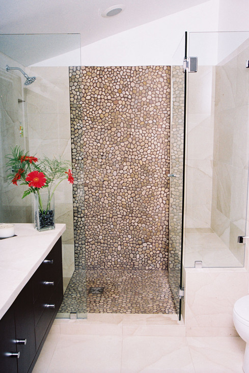 Asian Tan Pebble Tile Tiles Mosaic